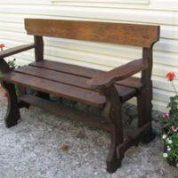 Как изготовить деревянную скамейку своими руками фото 984
