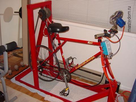 самодельный велотренажер с электрогенератором