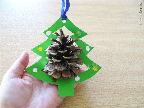 Новогодние игрушки из природных материалов