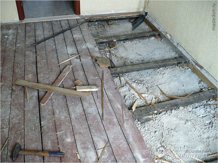 Старые деревянные полы