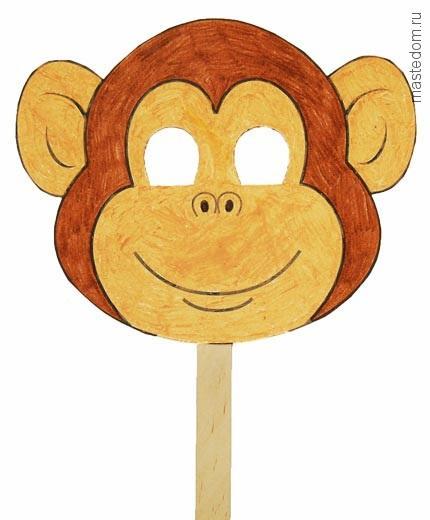 Маска и костюм обезьяны своими руками. Символ 2016 года (11)