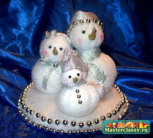 Как сделать снеговик своими руками мастер класс