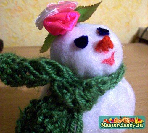 Снеговик маленький своими руками