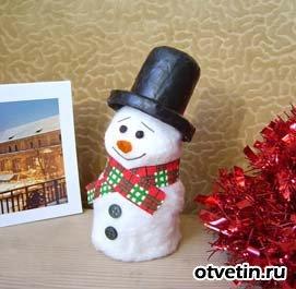 Снеговика своими руками на бумаге