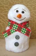 Как сделать снеговика из бумаги своими руками