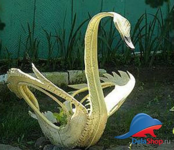 Лебедь из покрышки обычный без