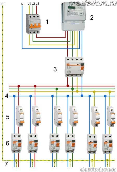 Схема подключения и