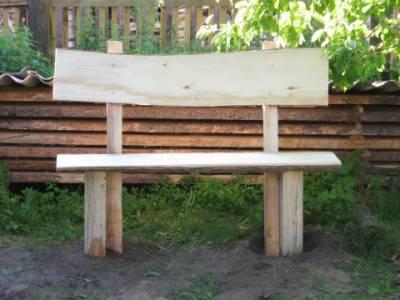 Деревянная скамейка со спинкой своими руками