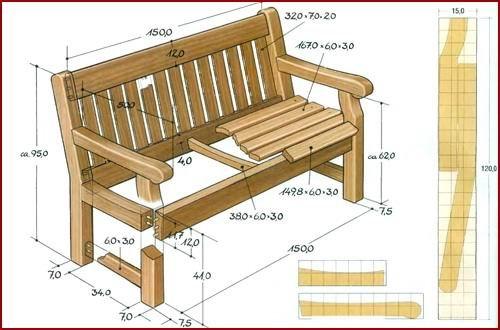 Садовая скамейка своими руками из дерева