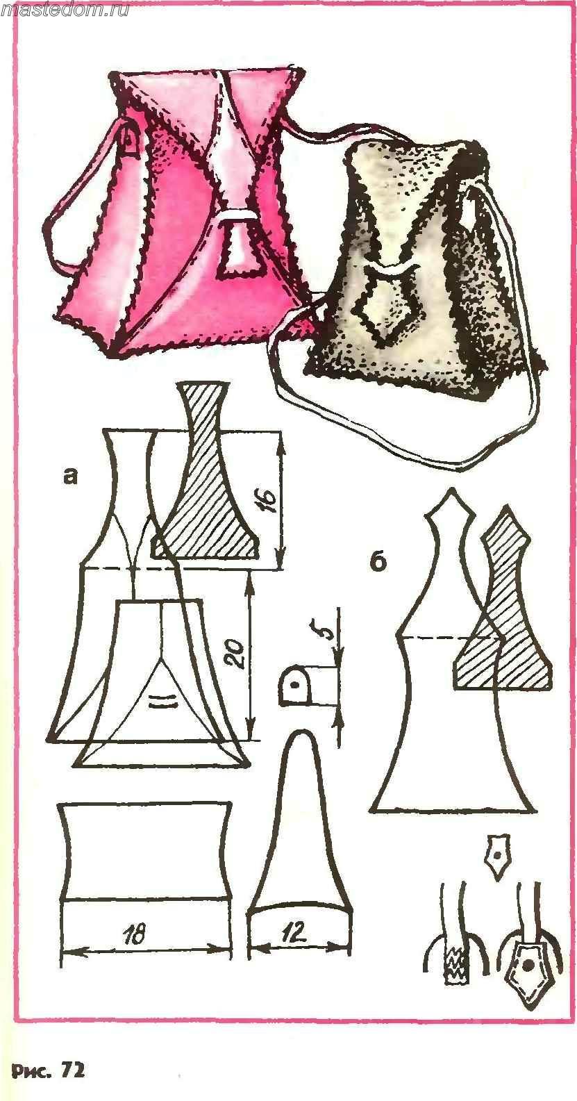 Как сделать выкройку кожаной сумки