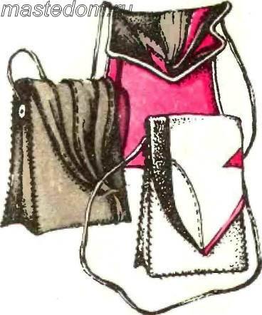 Выкройка сумки на пояс - Вязание Для.