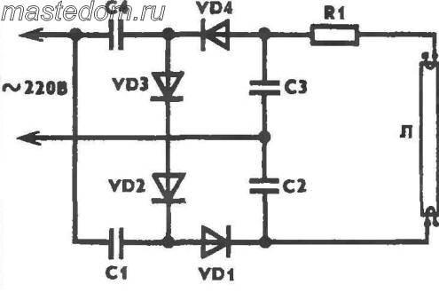 Мощность лампы (Вт)