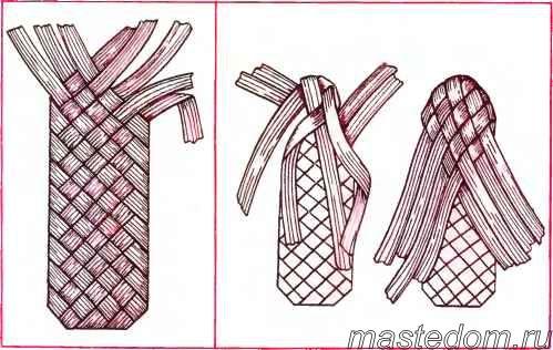 Окончательное плетение носка и