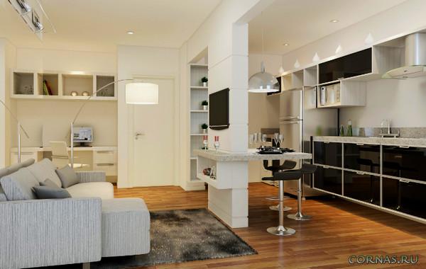 Фото дизайна квартиры студии 25 кв.м